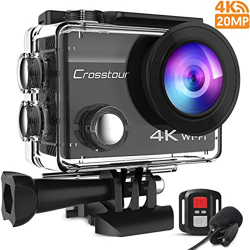 Crosstour Action Cam 4K 20MP WiFi...