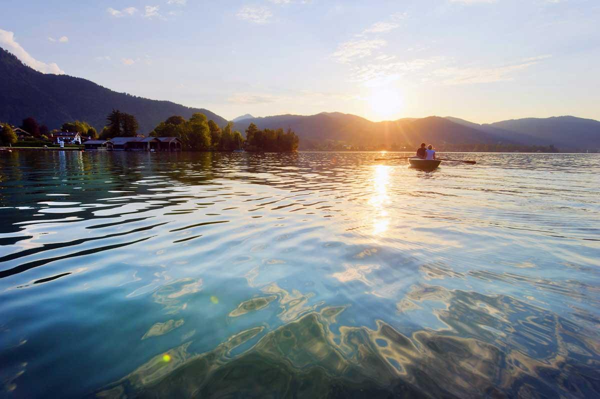 Schöne Seen in Deutschland Tegernsee