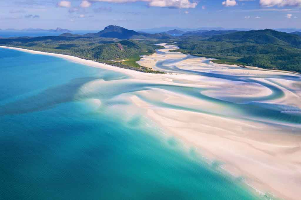 Sehenswürdigkeiten Queensland Whitehaven Beach Whitsundays Islands