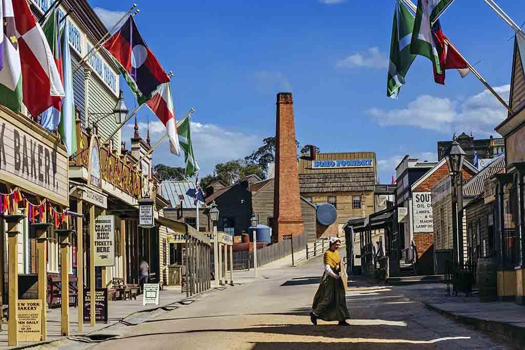 Victoria Australien Sehenswürdigkeiten und Reisetipps Sovereign Hill in Ballarat