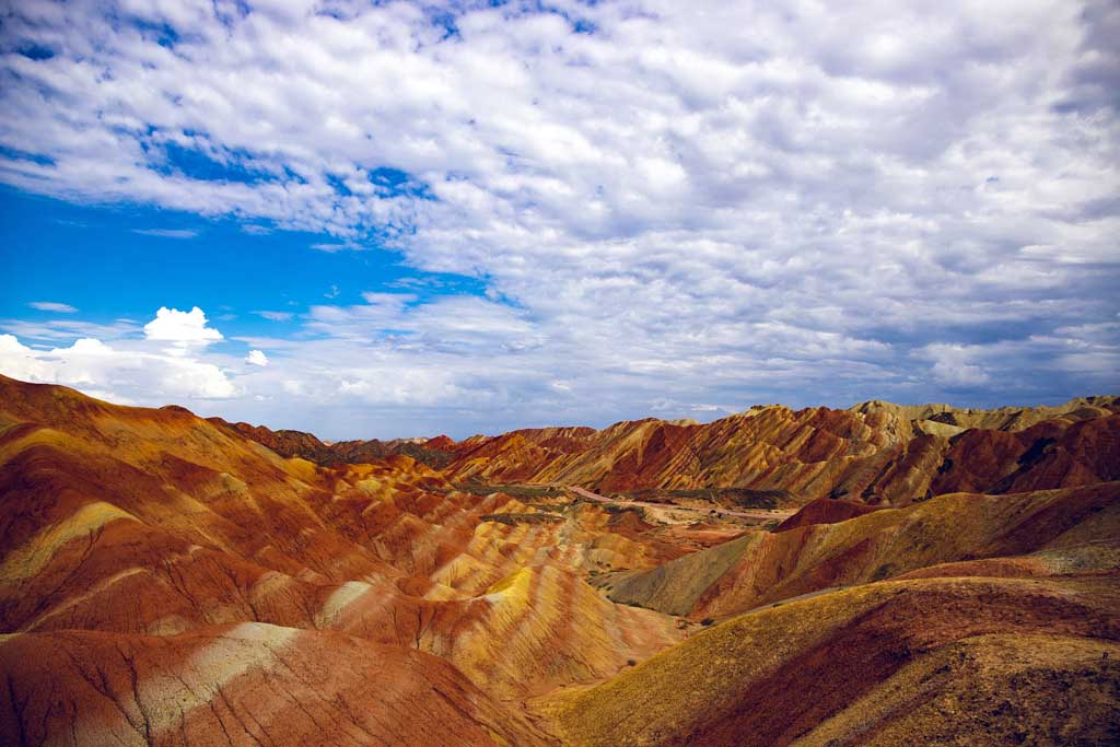 Bunte Berge China Zhangye Danxia Nationalpark