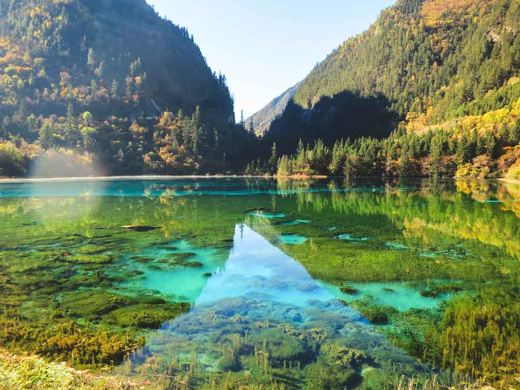 China Landschaft Jiuzhaigou Nationalpark