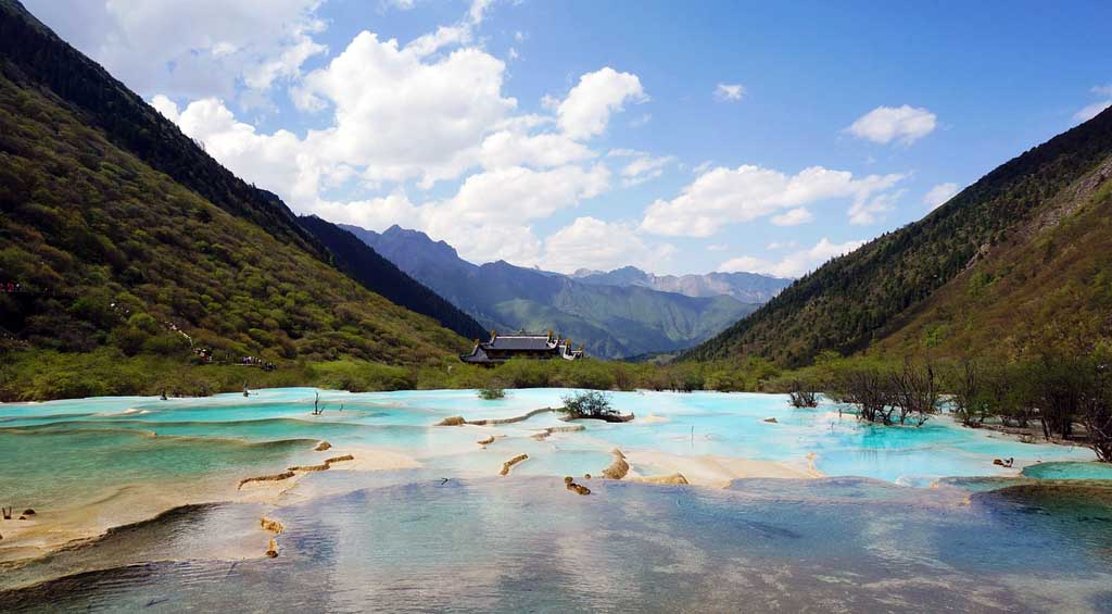 China Landschaft im Jiuzhaigou Nationalpark