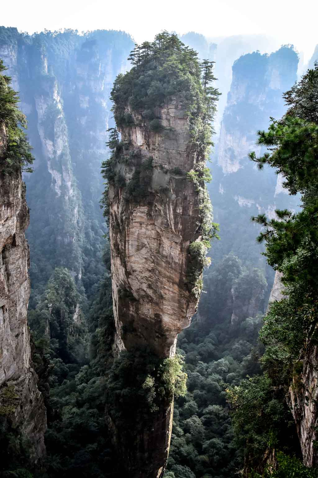 China Natur Zhangjiajie Nationalpark
