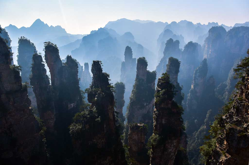 China Reiseziele Zhangjiajie Nationalpark