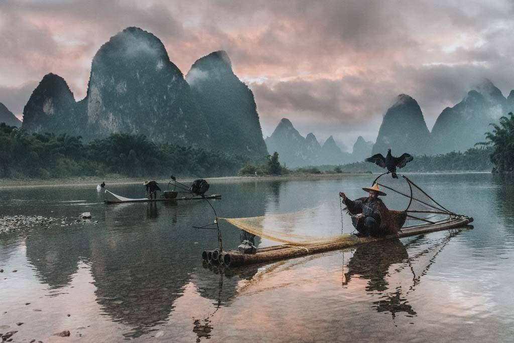 China Reiseziele in der Natur Li River
