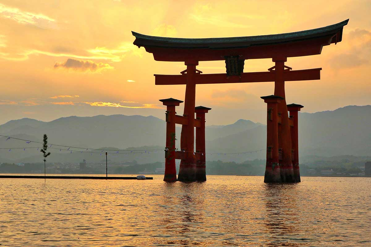 Itsukushima Schrein in Japan