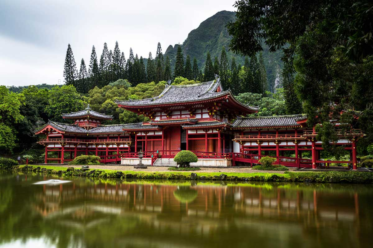 Byodo in Tempel auf Hawaii